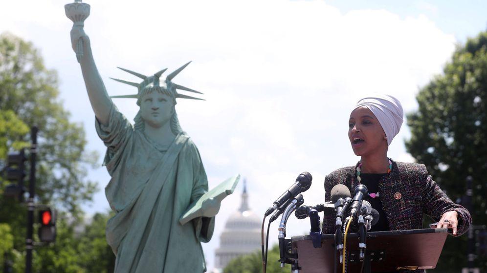 Foto: La congresista Omar, en Washington. (Reuters)
