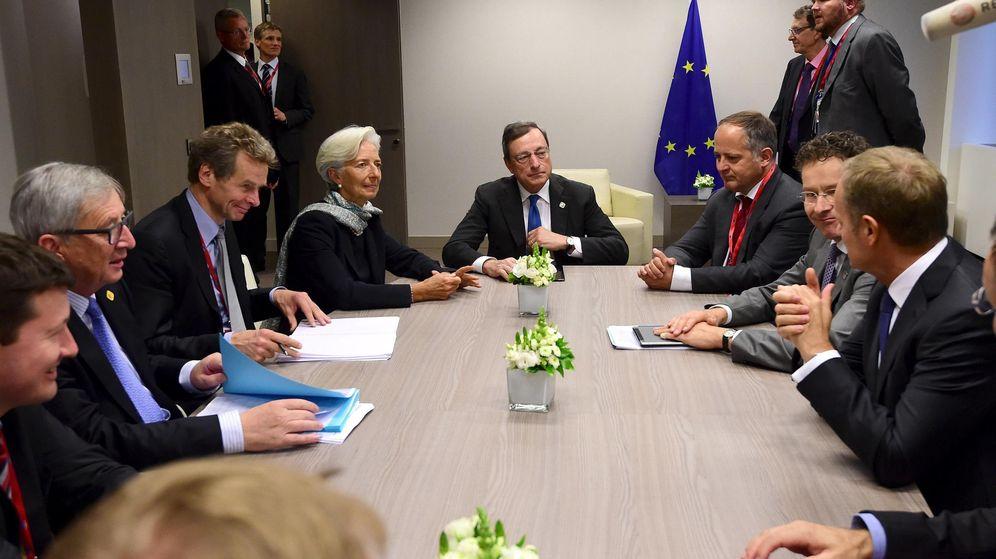 Foto: El presidente de la Comisión se reúne con la directora del FMI, el presidente del BCE y el presidente del Eurogrupo. (Reuters)