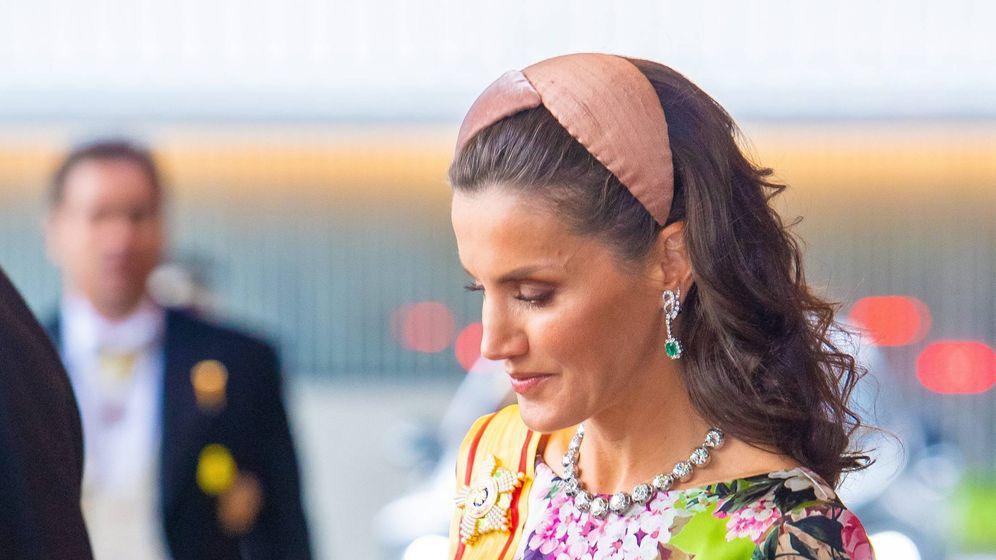 Foto: La reina Letizia, esta semana en Japón. (Cordon Press)