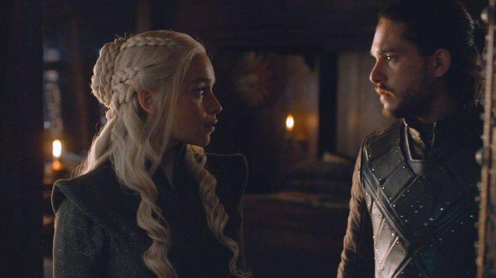 Foto: Daenerys y Jon Nieve en el desenlace de la séptima temporada de 'Juego de Tronos'