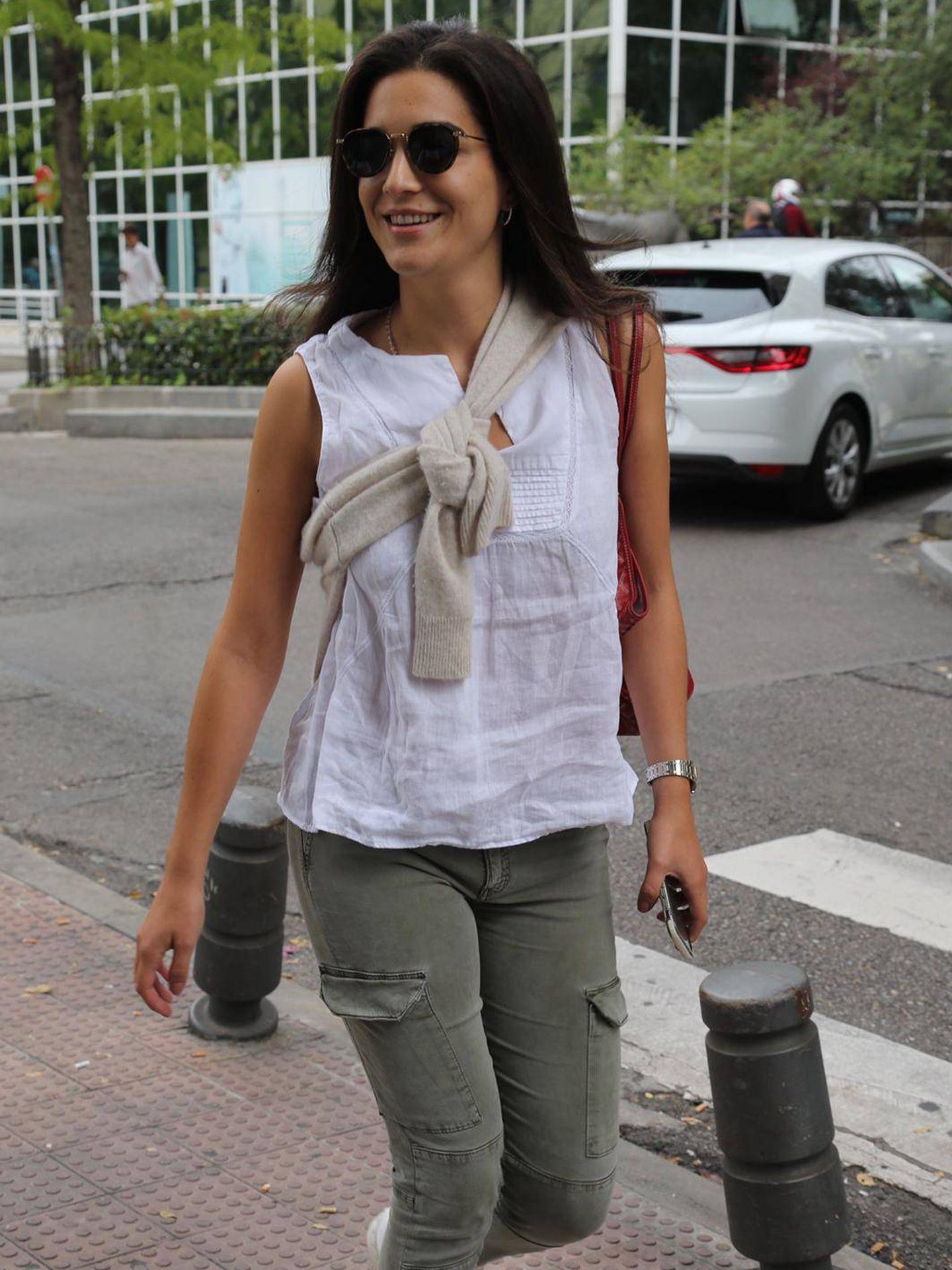 Bárbara Mirjan, estos días visitando a Cayetano en el Hospital de La Luz. (J. Martín)