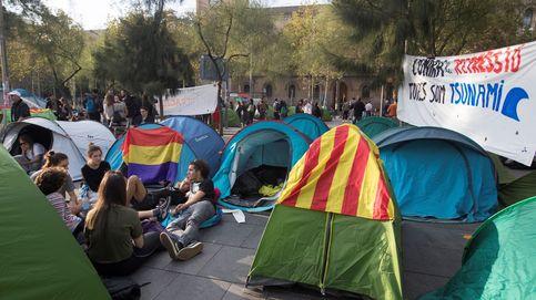 La Junta Electoral descarta desalojar la acampada de estudiantes en Barcelona