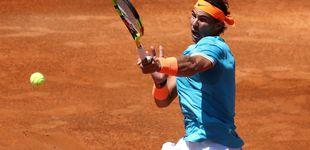 Post de El chaparrón de Rafa Nadal y su dulce 'entrenamiento' ante Chardy en Roma