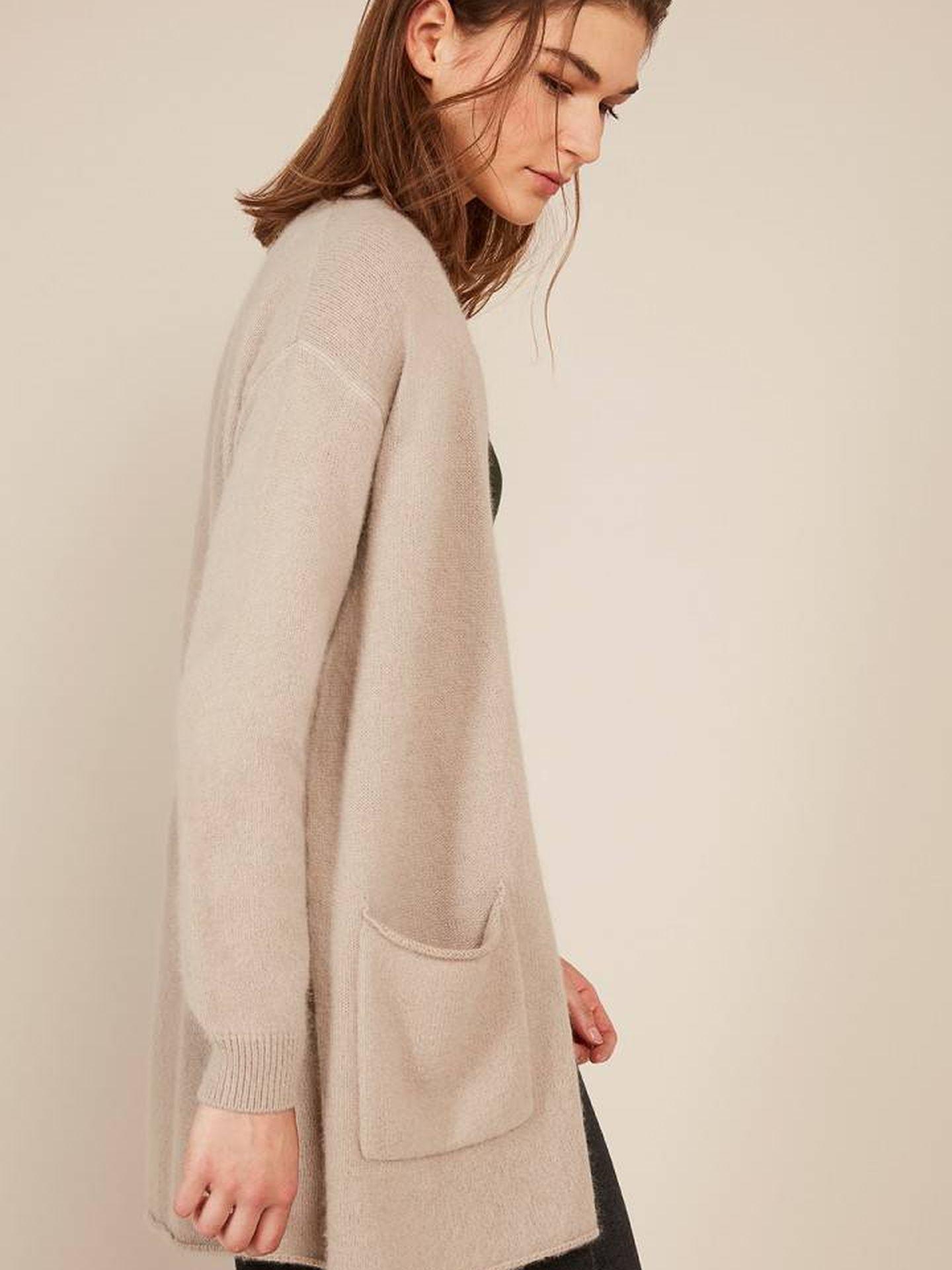 Esta es la chaqueta de punto de la modelo. (Cortesía)