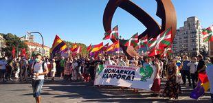 Post de Podemos se une a EH Bildu en Bilbao para manifestarse contra la monarquía