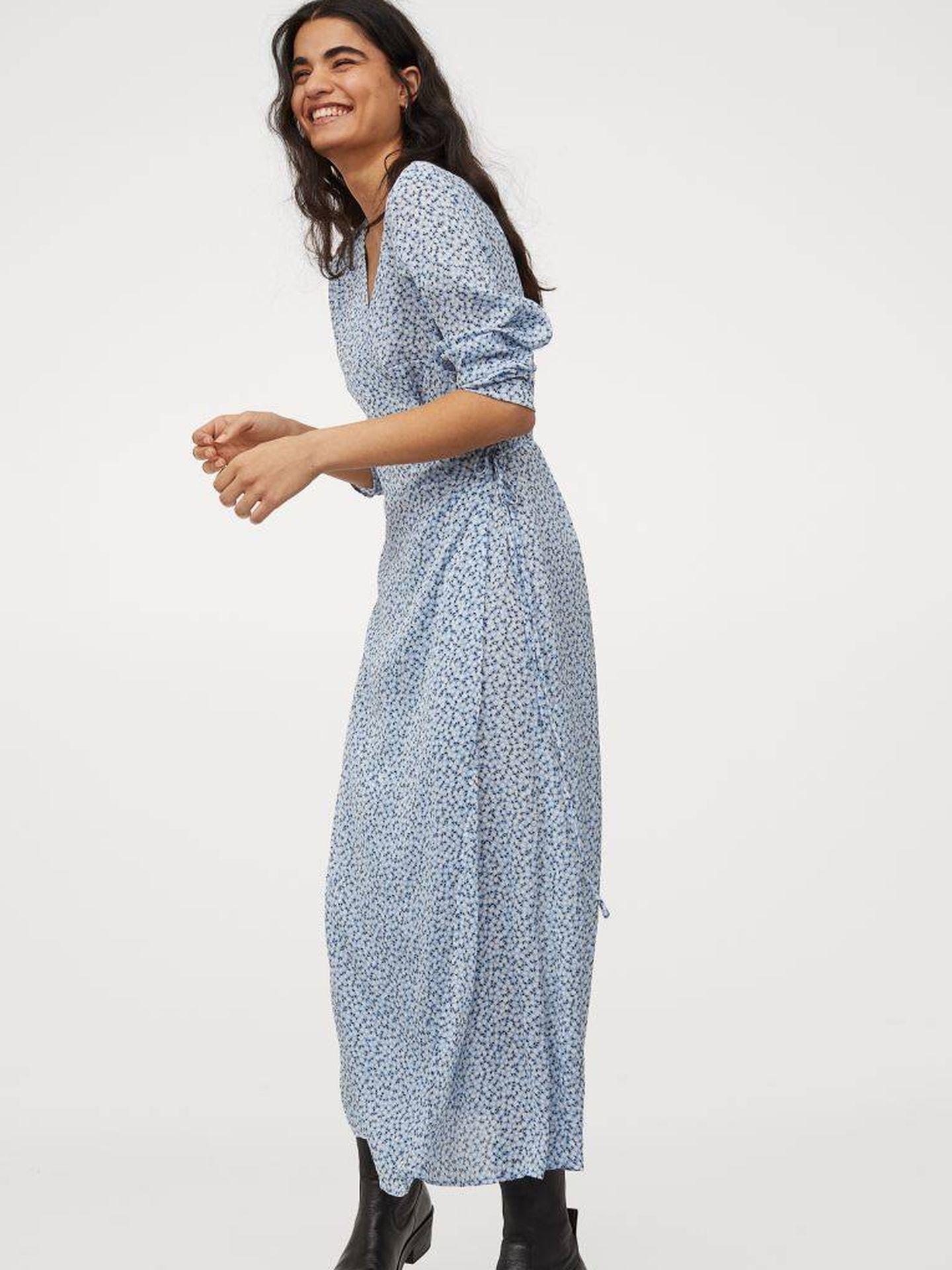 Un vestido cruzado de HyM. (Cortesía)