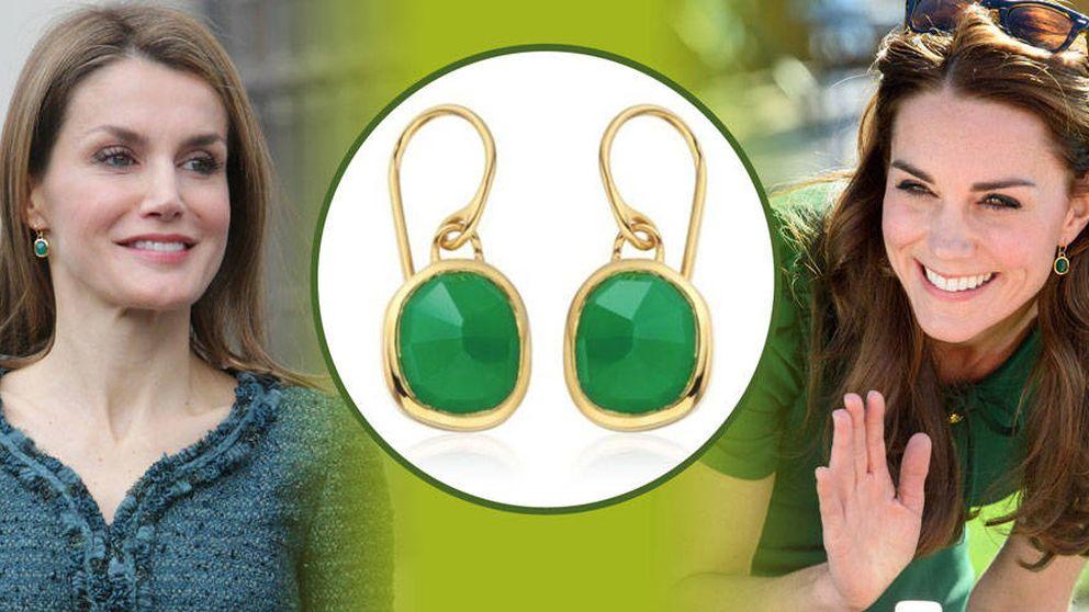 ¡Pillada! Kate Middleton le copia los pendientes a la Reina Letizia