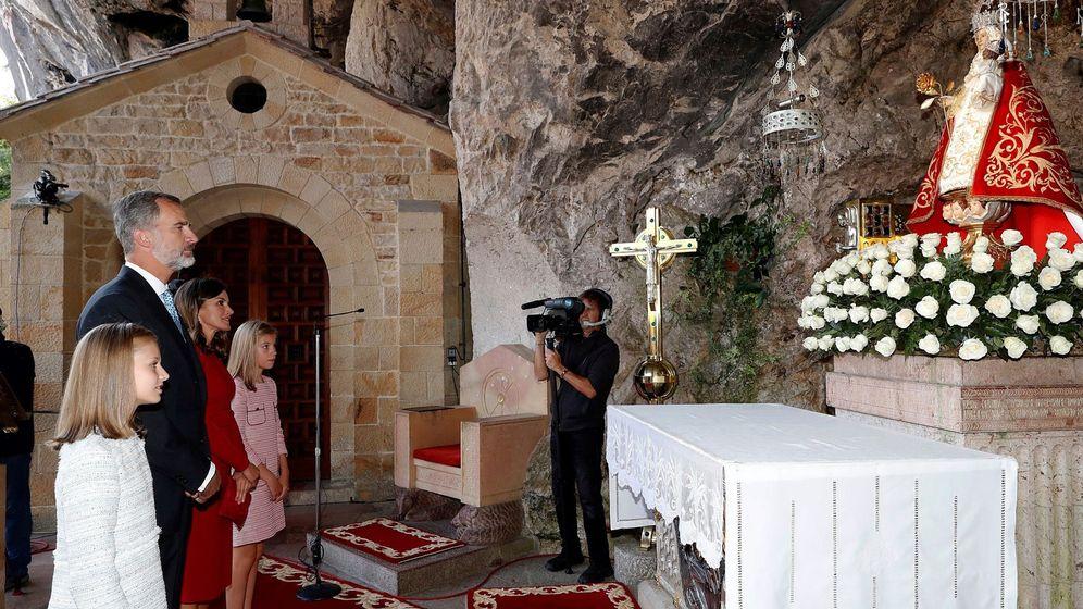 Foto: La Familia Real en Covadonga, Asturias. (EFE)