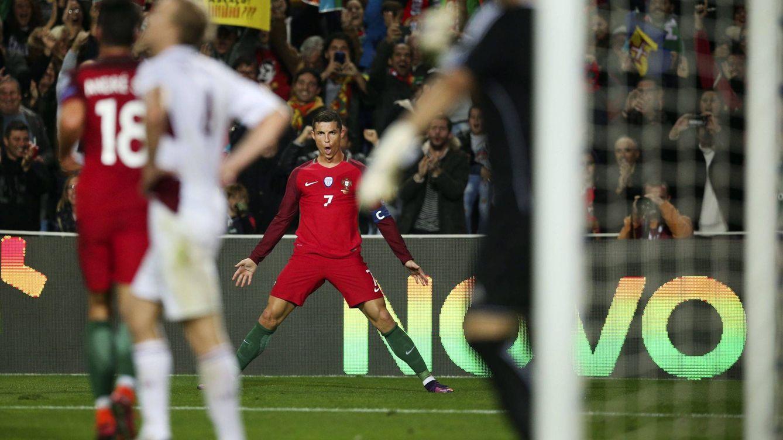 Foto: Cristiano celebra un gol en la Copa del mundo. (EFE)