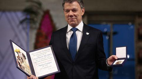 Santos recibe el premio Nobel de la Paz