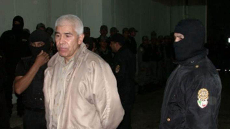 Rafael Caro Quintero, en el momento en que recuperó su libertad tras 28 años de reclusión en México, en 2013. Está prófugo desde entonces. (EFE)