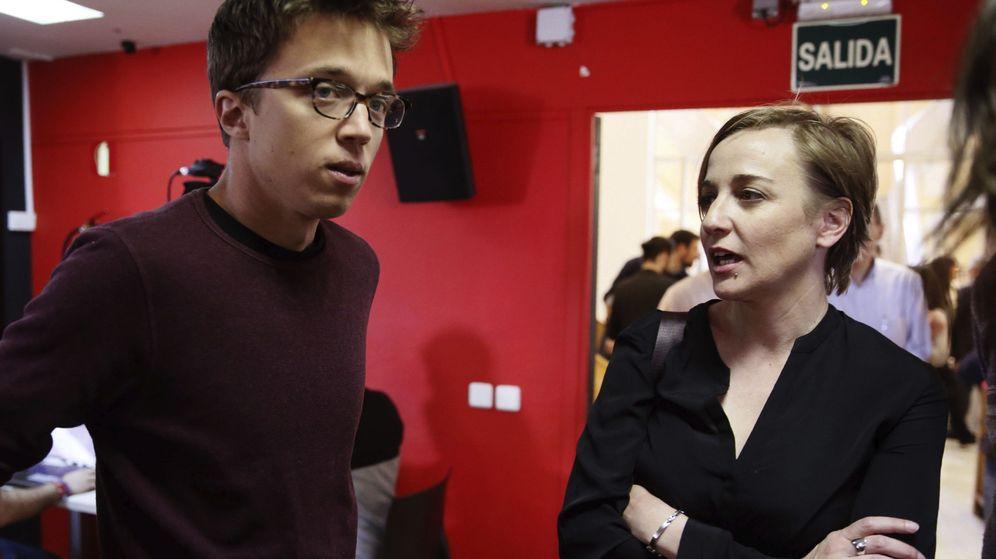 Foto: El secretario de Análisis Estratégico de Podemos, Íñigo Errejón junto a la diputada Tania Sánchez. (EFE)