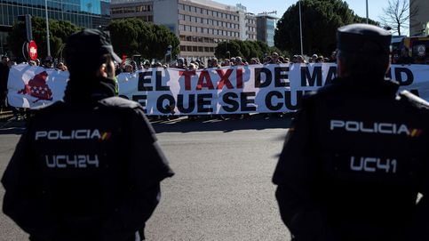 El taxi planea colapsar Madrid este lunes con miles de coches llegados de toda España