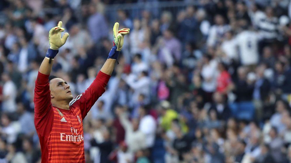Foto: Keylor Navas, en un encuentro liguero de este año en el Bernabéu. (EFE)