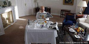 Foto: El 'PER cinco estrellas' del diputado Duran en una suite del Palace