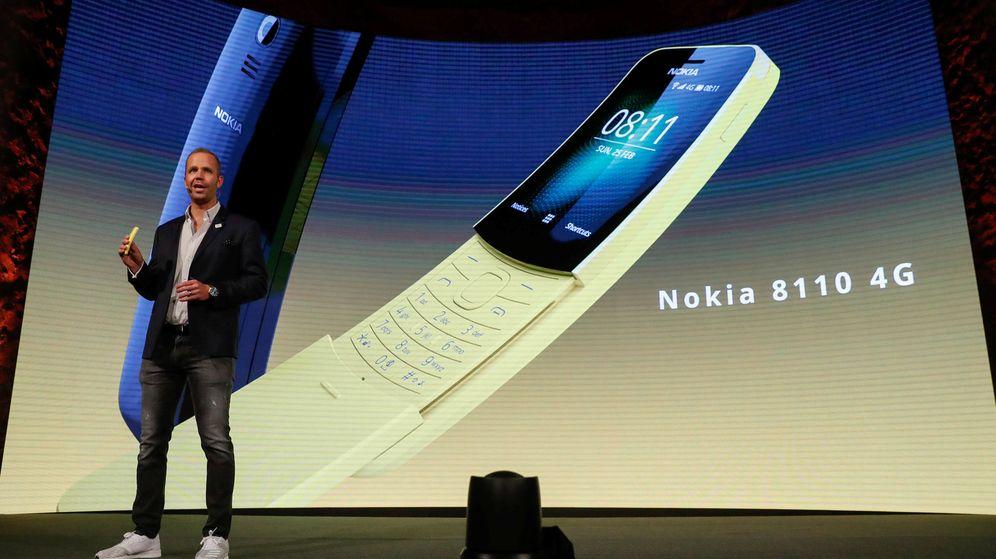 Foto: Juho Sarvikas presenta el nuevo Nokia 8110 durante el MWC de Barcelona | Reuters