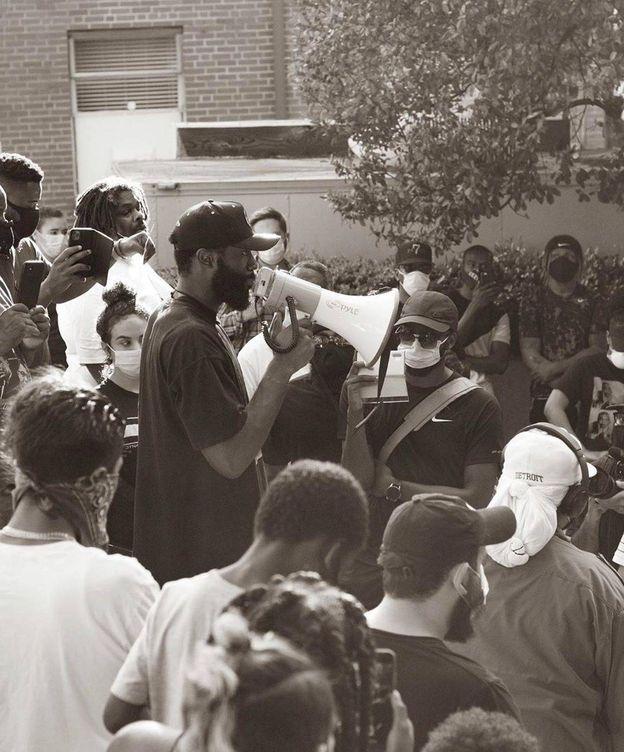 Foto: Jaylen Brown lideró una manifestación por el asesinato de George Floyd. (@fchwpo)