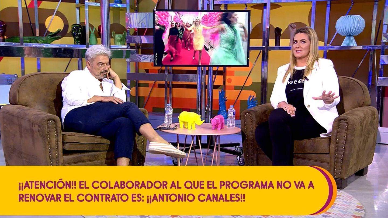Antonio Canales y la presentadora Carlota Corredera. (Mediaset)