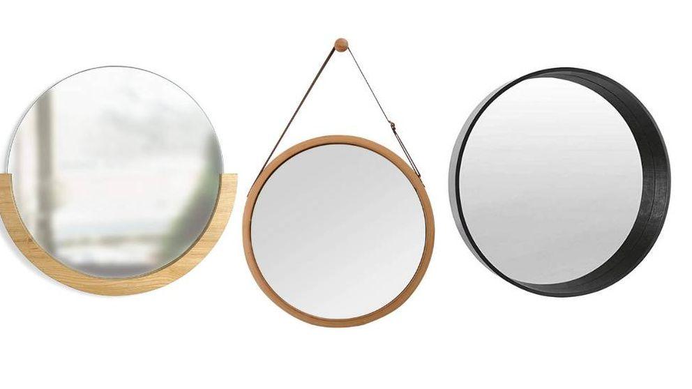 Espejos redondos para decorar las paredes del baño y de la casa
