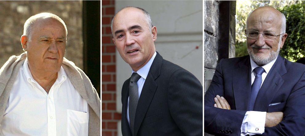 Foto: Fotografías de archivo de los dueños de las tres mayores grandes fortunas de España (efe)