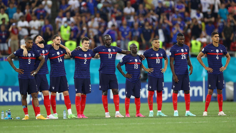Francia, durante la tanda de penaltis. (REUTERS)