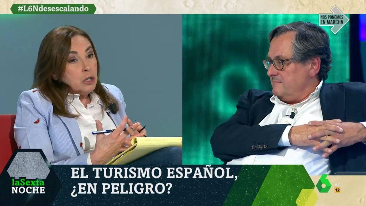 Angélica Rubio y Francisco Marhuenda, en 'La Sexta noche'. (Atresmedia).