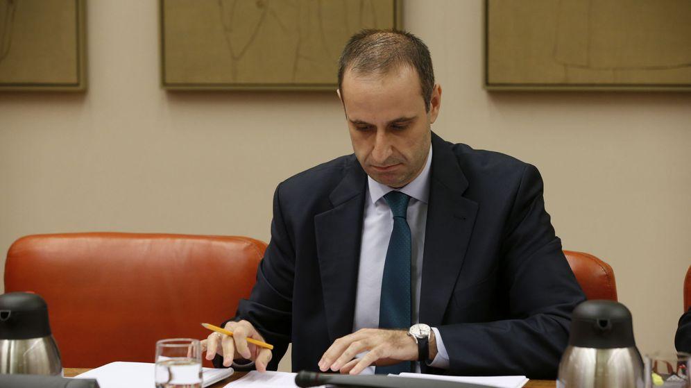 Foto: Jaime Ponce, presidente del FROB, en su comparecencia en el Congreso (EFE)