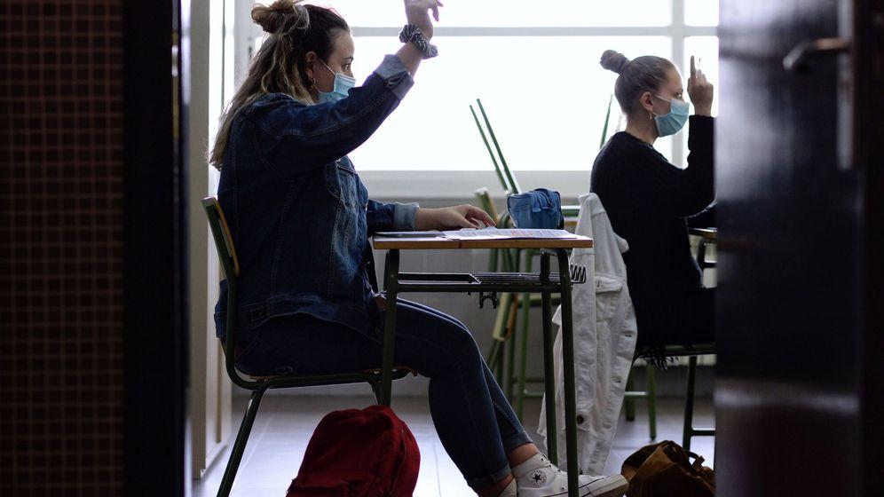 Foto: Alumnos de segundo de bachillerato (EFE)