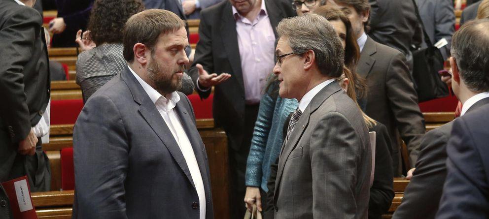 Foto: Oriol Junqueras y Artur Mas. (Reuters)