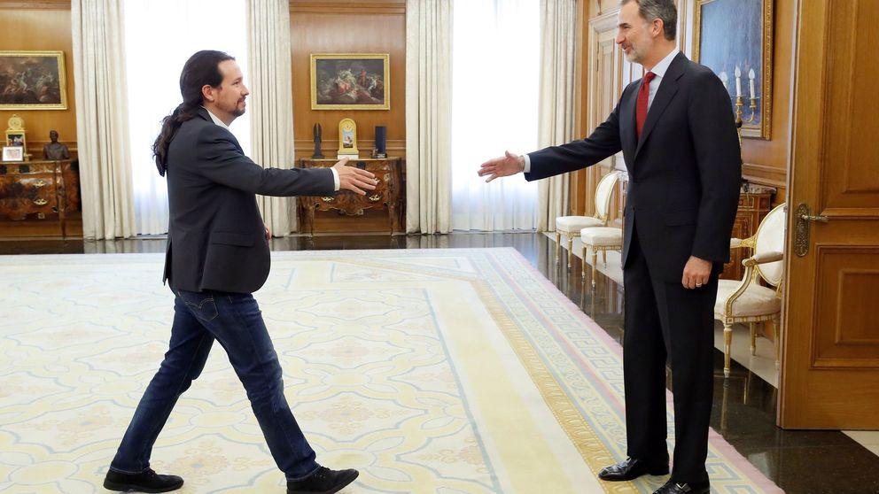 Iglesias reivindica ante el Rey una alianza de progreso que saque a Cs de la ecuación