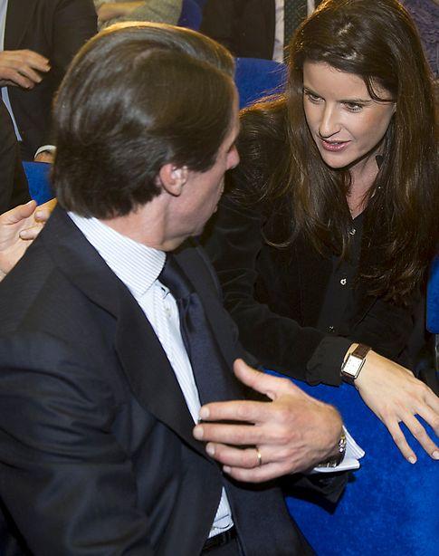 El expresidente junto a su nuera en un acto público en Madrid (Gtres)