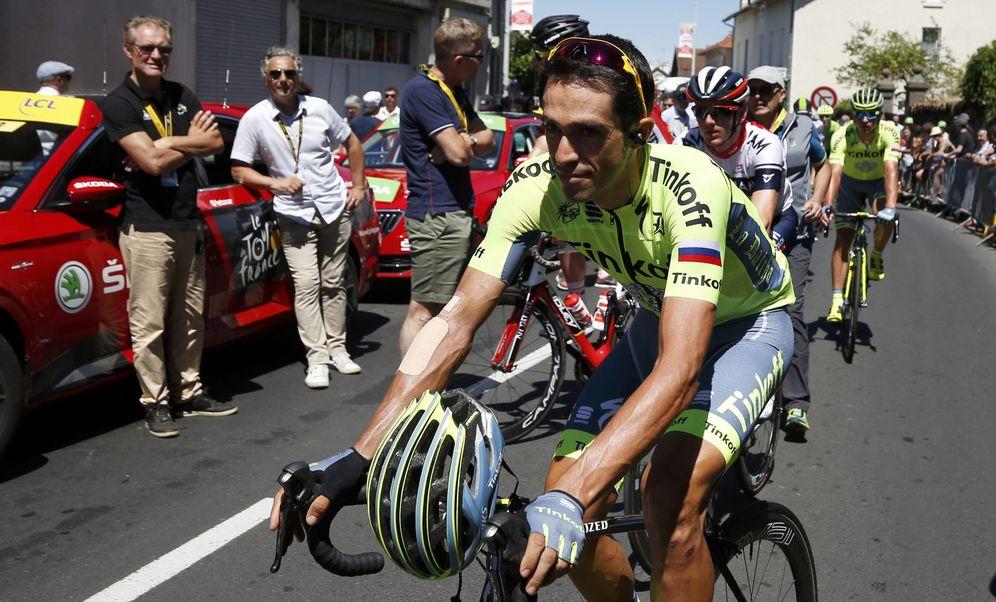 Foto: Alberto Contador dejará el Tinkoff tras cinco años (Juan Medina/Reuters).