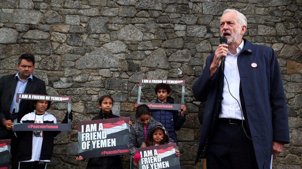 Foto: Jeremy Corbyn, en un acto por la paz de Yemen. (Reuters)