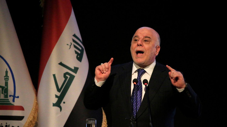 El primer ministro iraquí Haidar Al Abadi durante una ceremonia en Nayaf, el 7 de enero de 2018. (Reuters)