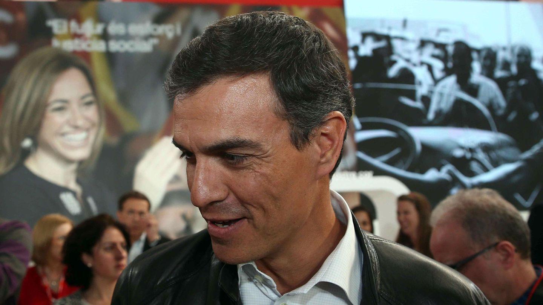 Pedro Sánchez, el pasado 19 de abril, a su llegada al homenaje a Chacón en Barcelona. (EFE)