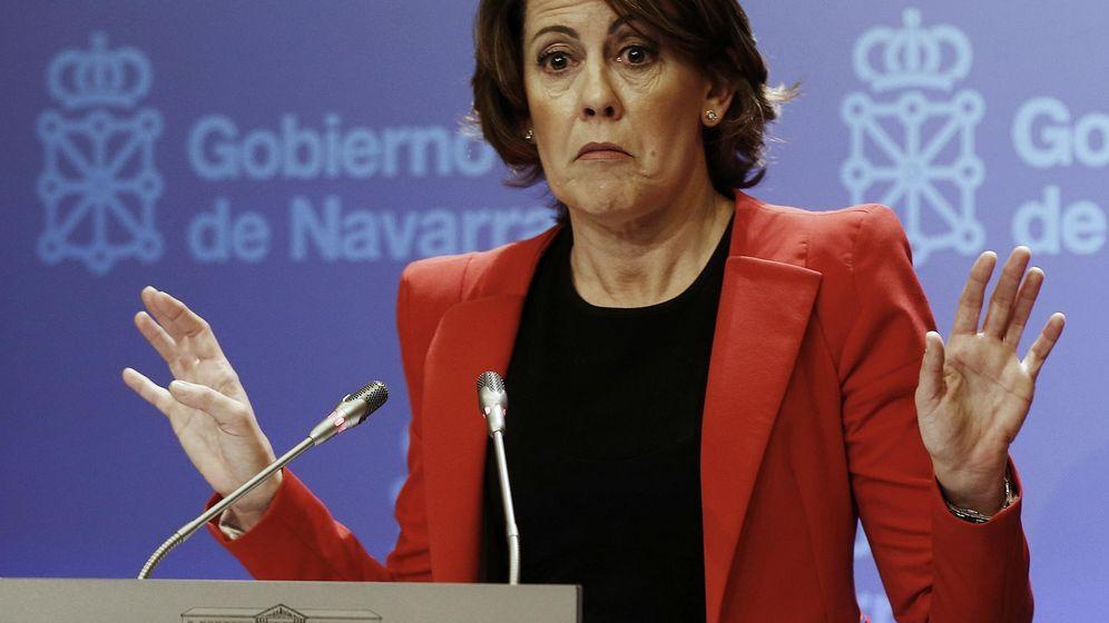 Foto: Yolanda Barcina, presidenta en funciones del Gobierno de Navarra y de Unión del Pueblo Navarro (UPN). (EFE)
