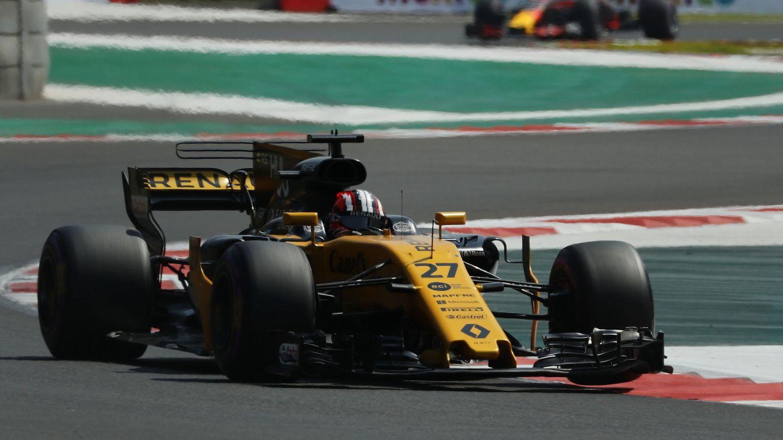 Nico Hulkenberg fue el más rápido de los pilotos de Renault en la clasificatoria del GP de México. (EFE)