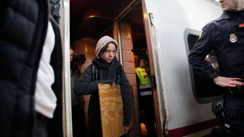 Foto: Greta Thunberg llega a Madrid. (Reuters)