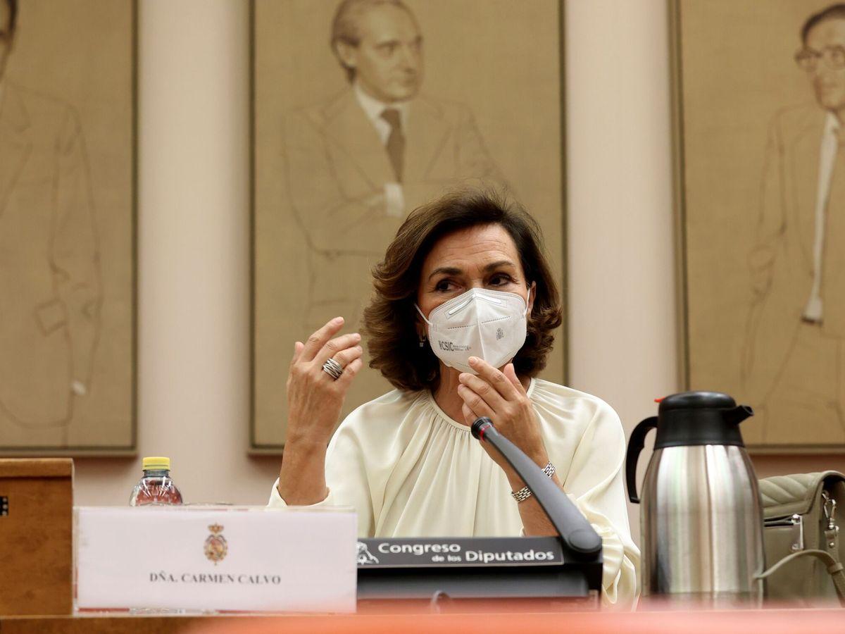 Foto: La diputada socialista y exvicepresidenta del Gobierno Carmen Calvo. (EFE)