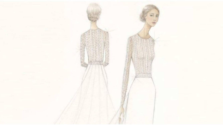 El vestido de novia de Xisca Perelló: cuerpo entallado, falda de crepe y de Rosa Clará