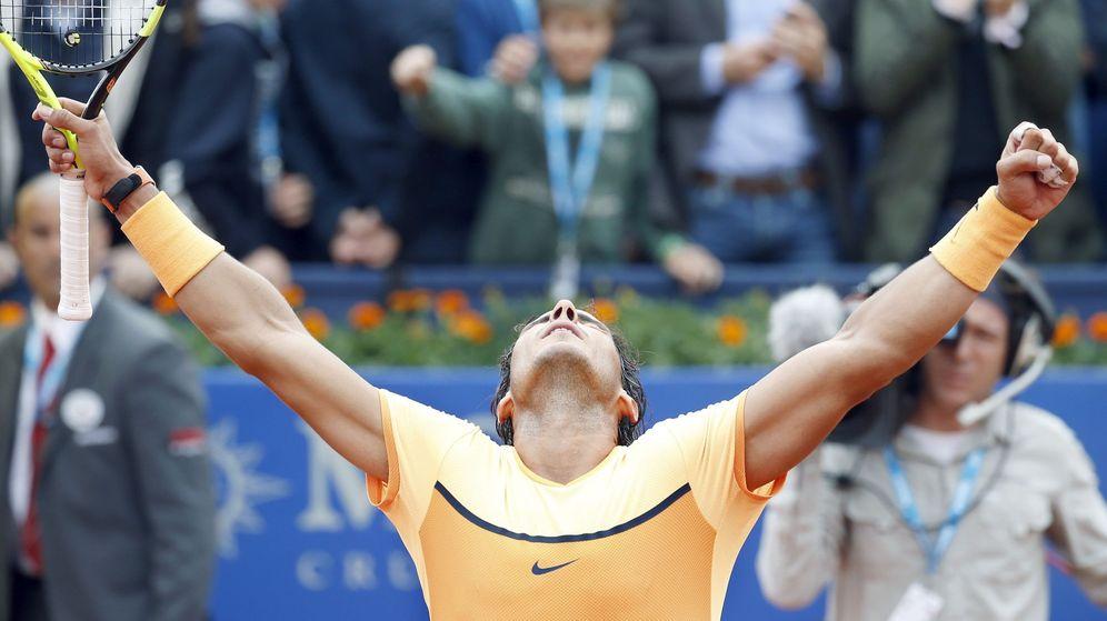 Foto: Nadal celebra la victoria ante Fognini (EFE)
