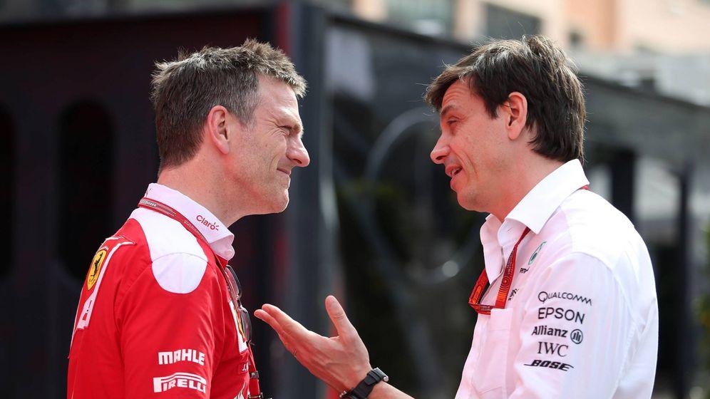 Foto: James Allison junto a Toto Wolff, su nuevo jefe en Mercedes.