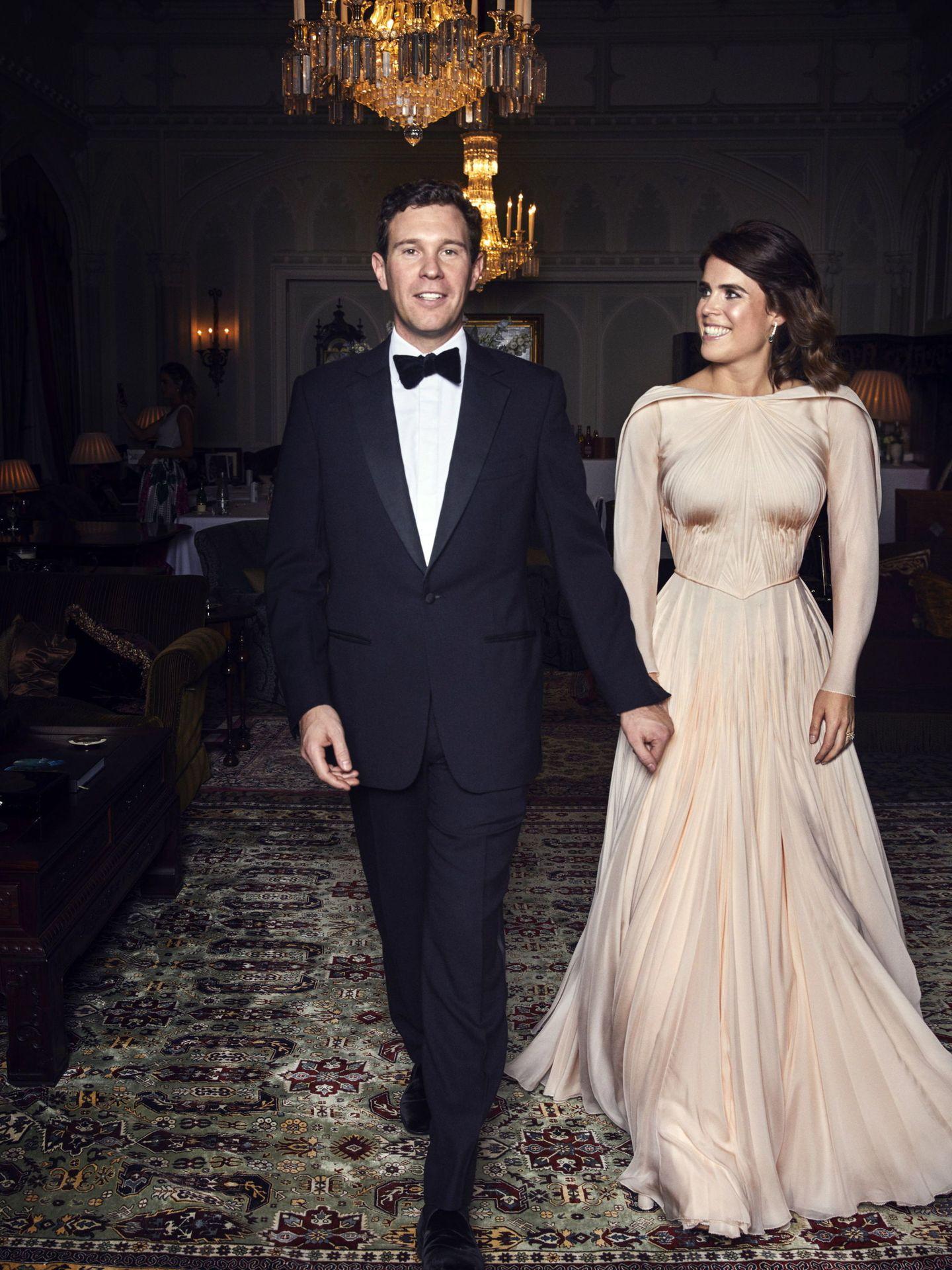Eugenia de York y Jack Brooksbank, el día de su boda. (EFE)