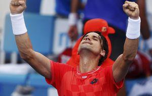 Ferrer y Feli sacan su mejor tenis para remontar y pasar de ronda