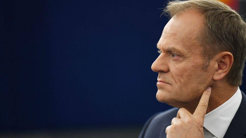 Foto: Donald Tusk durante el debate del Brexit en la Eurocámara. (EFE)