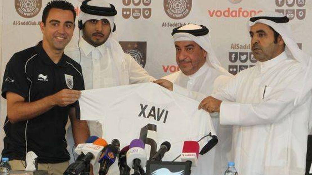 Foto: Xavi, durante su presentación como jugador del Al Sadd catarí. (Reuters)