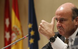 Guindos afirma que la economía española se aceleró hasta junio