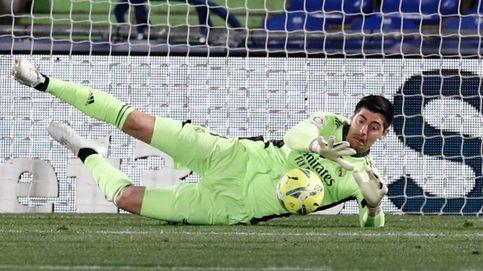 Un renqueante Madrid recae en Getafe y solo Courtois lo salvó del batacazo (0-0)