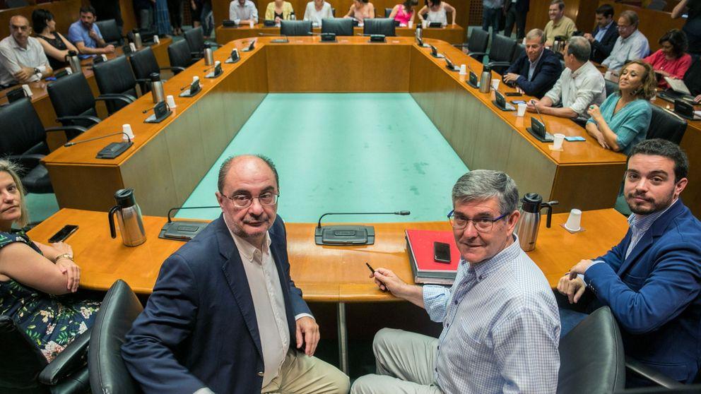 Lambán ofrece a Podemos el 'modelo Sánchez' tras su exigencia de consejerías