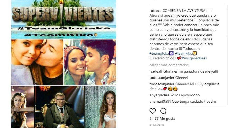 Rocío Flores Carrasco apoya en redes a su tía en 'Supervivientes'.